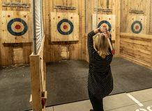 Free Throwing An Axe Stock Images - 141423384