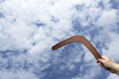 Throwing boomerang Stock Images