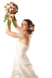 Throwing the bouquet Stock Photography