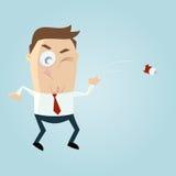 Throwing dart. Illustration of a cartoon man throwing dart Stock Photo