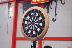 Throwing darts. Shenzhen Baoan Xixiang f518 Creative Park, people are throwing darts entertainment Royalty Free Stock Image