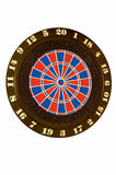 Throwing darts at the target. Royalty Free Stock Images