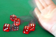 Throwing dice Stock Photo
