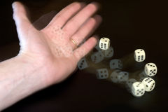 Throwing Dice Royalty Free Stock Photography