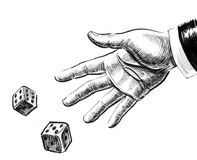 Throwing dice Stock Photography