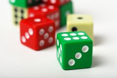 Throwing dice Royalty Free Stock Image