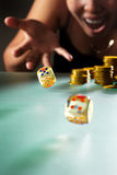 Throwing dices Royalty Free Stock Image