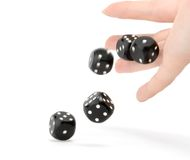 Free Throwing Dices Royalty Free Stock Images - 2136279