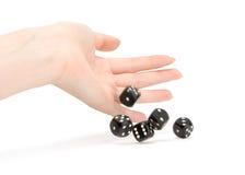 Throwing dices Stock Photos