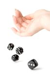 Throwing dices Royalty Free Stock Photo