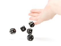 Throwing dices Stock Images