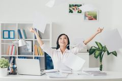 Throwing documents Stock Images