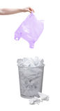 Throwing garbage out Stock Photography