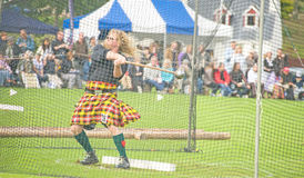 Throwing the hammer at Glenurquhart  Games. Stock Image