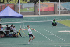 Throwing the javelin The 6th Hong Kong Games Stock Photo