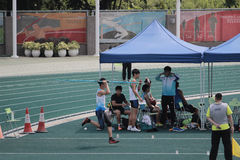 Throwing the javelin The 6th Hong Kong Games Stock Photography