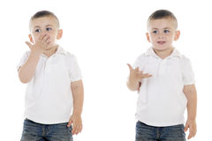 Throwing a Kiss Royalty Free Stock Photography