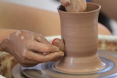 Throwing/Making Pottery Royalty Free Stock Images