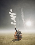 Throwing Out Bussiness Paperwork Stock Images