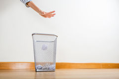 Throwing of paper ball Stock Images