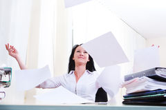 Throwing papers Royalty Free Stock Photography