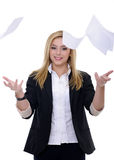 Throwing papers Stock Photo