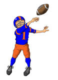 Throwing a Pass. Image of a quarterback throwing a pass Royalty Free Stock Photos