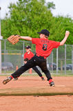 Throwing a Pitch Boy's Baseball Royalty Free Stock Image