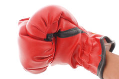 Throwing A Punch. Hand With Boxing Glove Throwing a Punch stock image