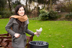 Throwing rubbish Royalty Free Stock Images