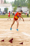 Throwing shot put competition Royalty Free Stock Photos