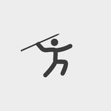 Throwing spears icon in a flat design in black color. Vector illustration eps10 Royalty Free Stock Photo