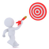Throwing at a target sign Royalty Free Stock Photo