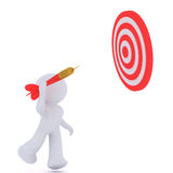 Throwing at a target sign Stock Photography
