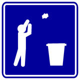 Throwing trash vector sign Stock Photography
