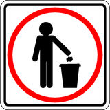 Throwing trash vector sign Stock Photo