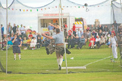 Throwing the weight at Nairn. Stock Images