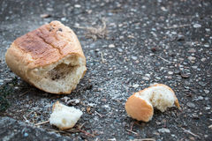 Thrown away bread Royalty Free Stock Photography