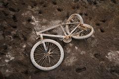 Thrown bicycle. How is its story? royalty free stock image