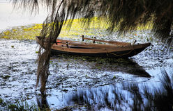 The thrown boat Royalty Free Stock Images