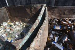 Thrown Bottles In Bin Royalty Free Stock Photos