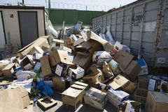 Thrown Cardboard Boxes Stock Photo