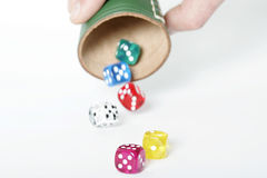 Thrown dice Stock Image