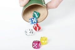 Thrown dice Stock Image