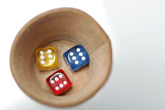 Thrown dice Royalty Free Stock Photography