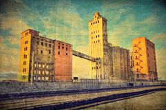 The thrown factory grunge background Stock Photo