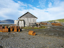 Thrown geological base on Novaya Zemlya (New Land) Stock Photos