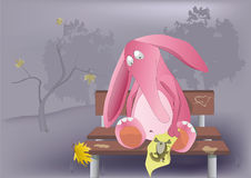 The thrown pink elephant stock illustration