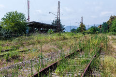 The thrown railway in Abkhazia Royalty Free Stock Photo