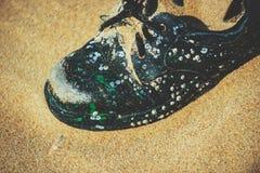 Thrown shoes Stock Photos